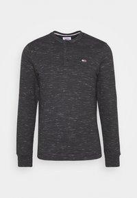 TJM SNIT HENLEY - Long sleeved top - black