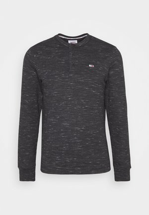 TJM SNIT HENLEY - Long sleeved top - black