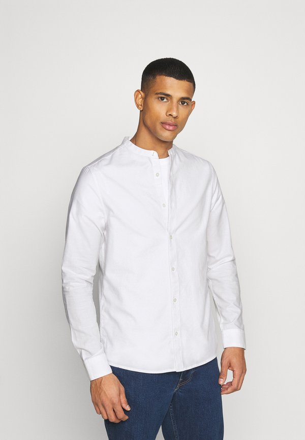 Burton Menswear London LONG SLEEVE OXFORD GRANDAD 2 PACK - Koszula - dark blue/white/granatowy Odzież Męska OLBT