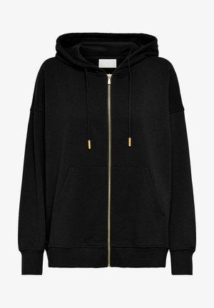 OVERSIZE - Zip-up sweatshirt - black