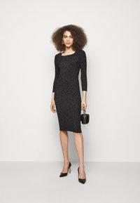 LIU JO - ABITO MAGLIA - Shift dress - black - 1