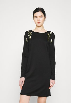 VIGIGS SHOULDER DETAIL DRESS - Jersey dress - black