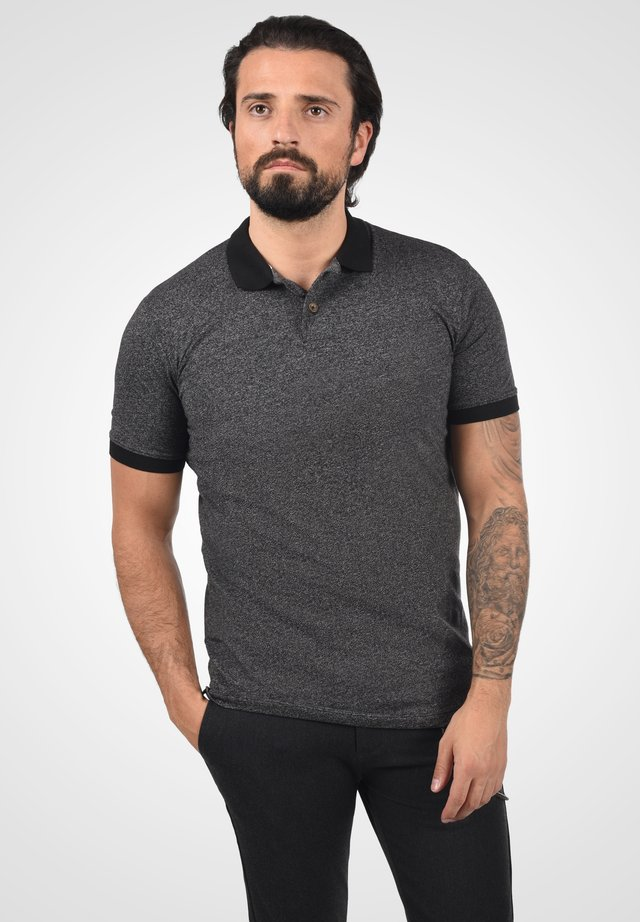 Polo shirt - black melange