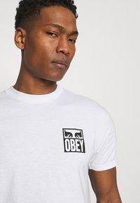 Obey Clothing - EYES ICON - Printtipaita - white - 3