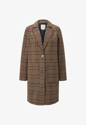 Cappotto corto - beige blue check
