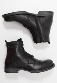 Jack & Jones - JFWRUSSEL WARM  - Lace-up ankle boots - anthracite - 1
