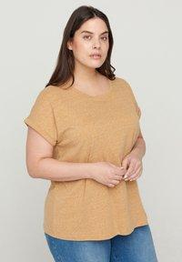 Zizzi - Basic T-shirt - orange - 0