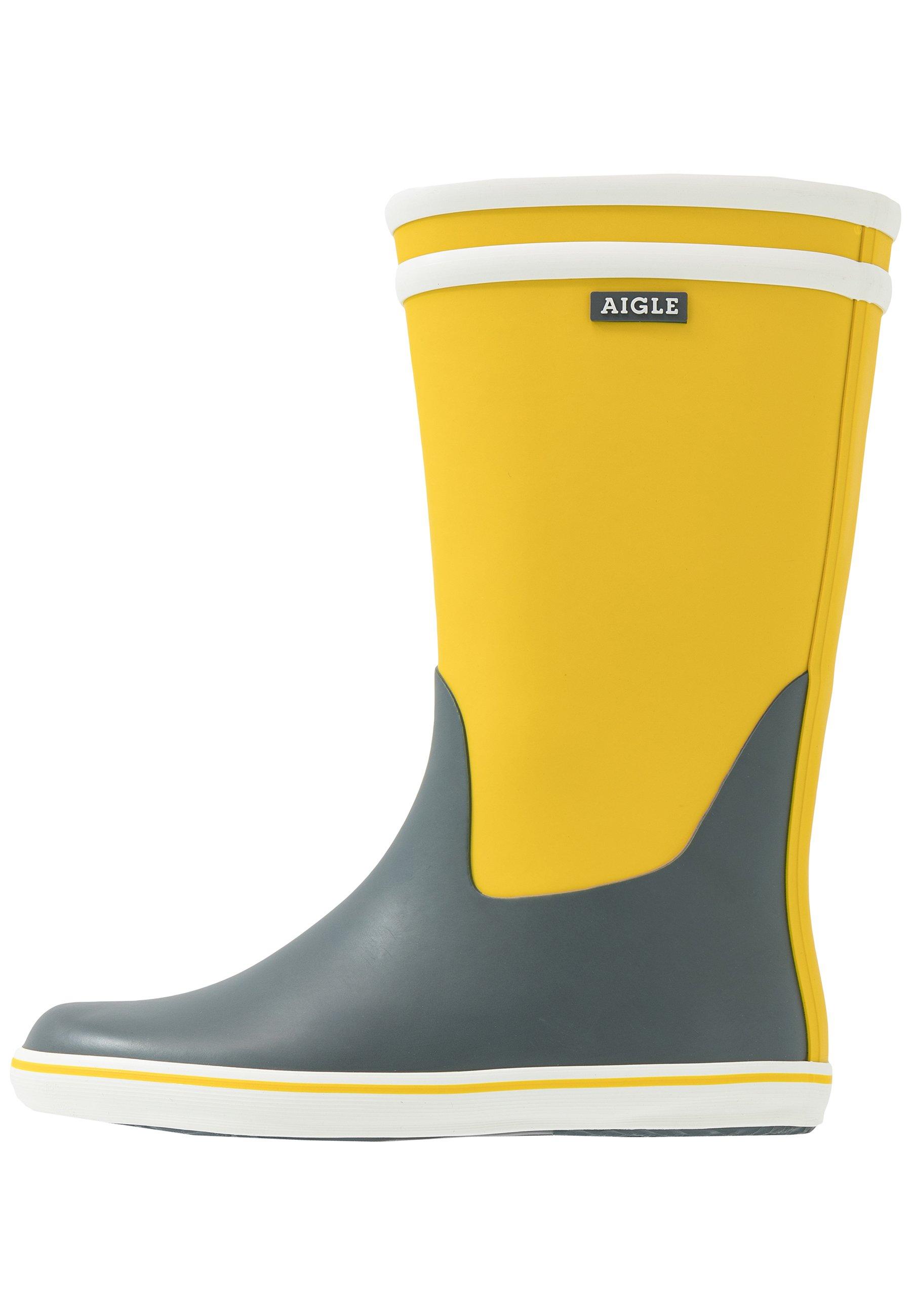 Aigle MALOUINE Bottes en caoutchouc jaune ZALANDO.FR