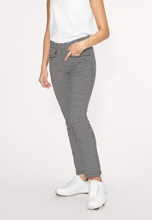 SMOOTH  - Trousers - black/white check