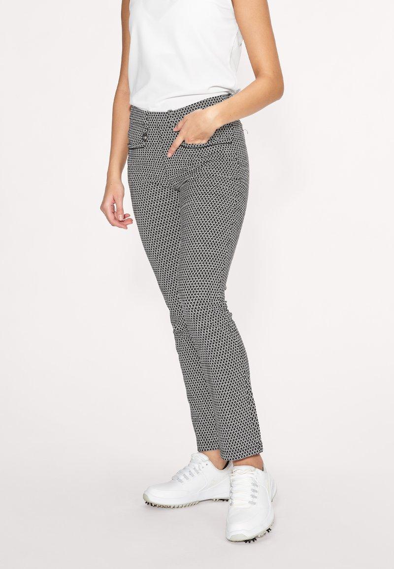 Röhnisch - SMOOTH  - Trousers - black/white check
