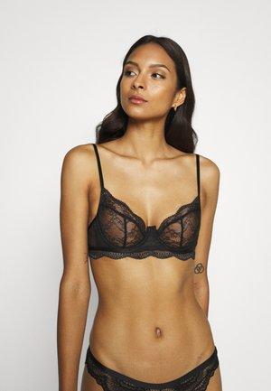 ISABELLE DEMI UNPADDED - Underwired bra - black