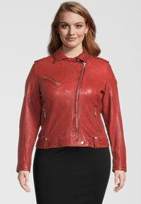 Gipsy - GGFAMOS CF LAMAXV - Leather jacket - red - 0