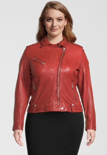 GGFAMOS CF LAMAXV - Leather jacket - red