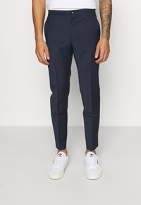 Calvin Klein Tailored - HOUNDSTOOTH PANT - Trousers - navy - 0