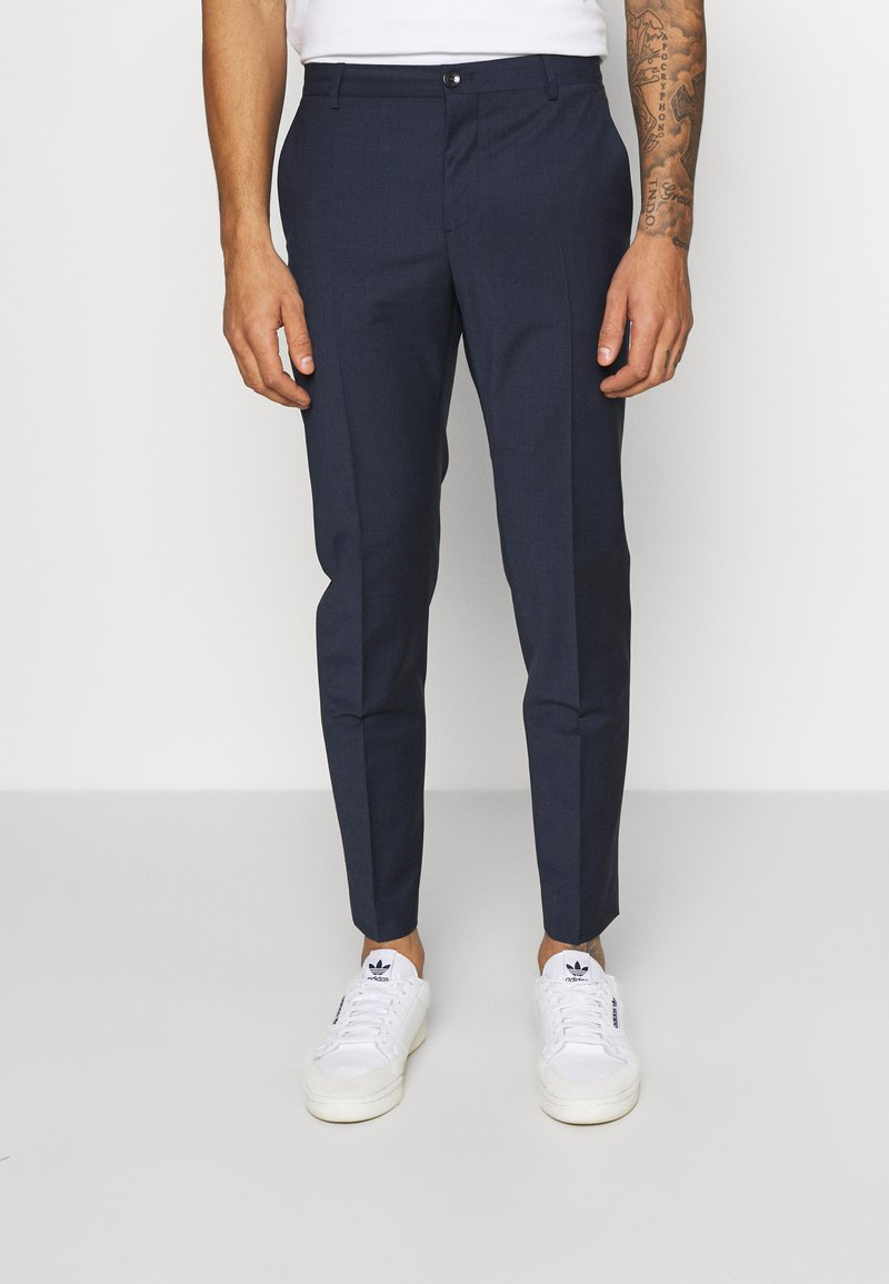 Calvin Klein Tailored - HOUNDSTOOTH PANT - Trousers - navy
