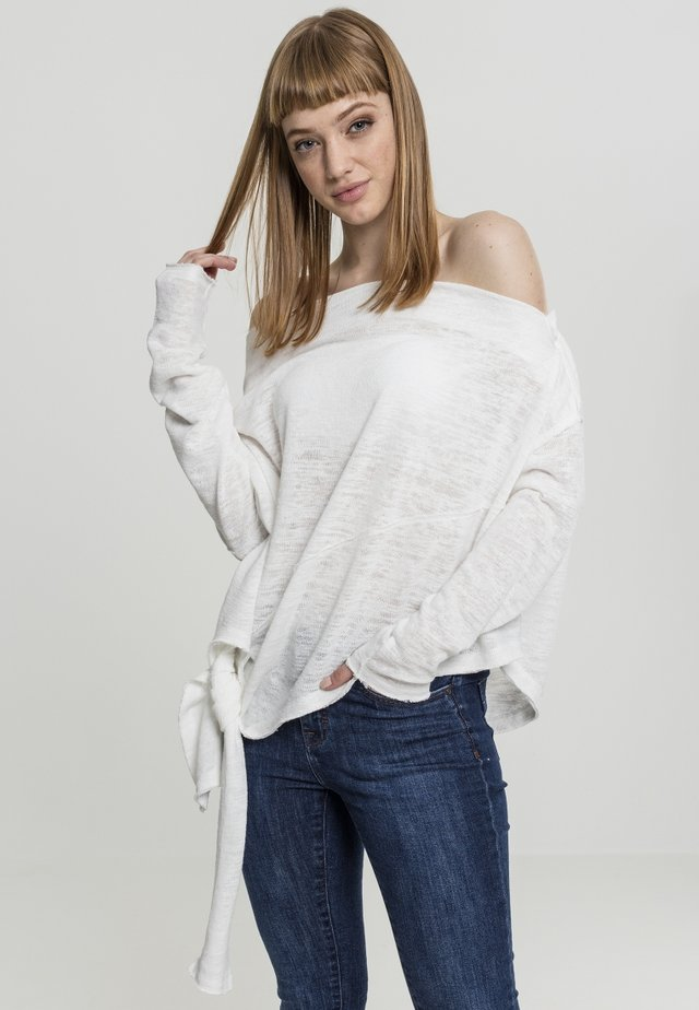 LADIES ASYMMETRIC - Maglione - white