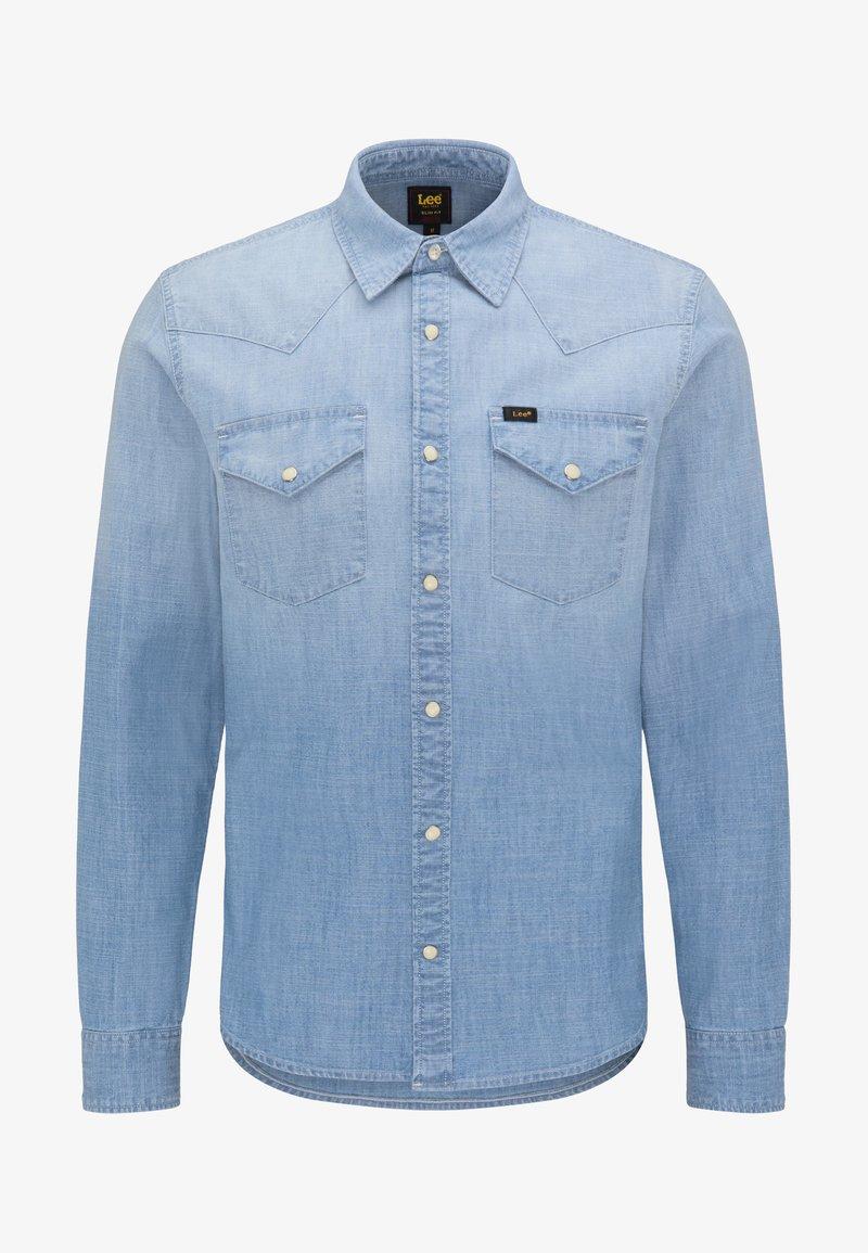 Lee WESTERN - Hemd - faded blue/blau-meliert DahtH5