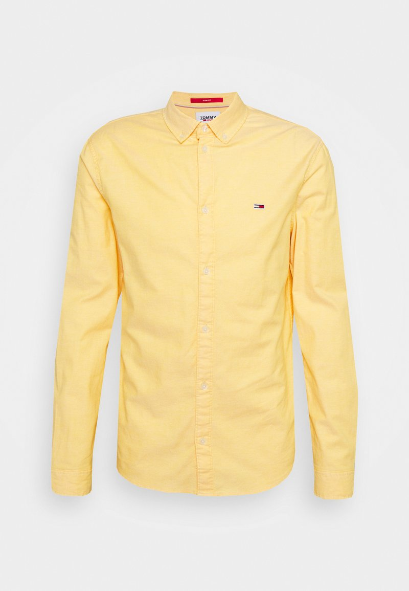 Tommy Jeans - SLIM STRETCH OXFORD - Skjorta - orange