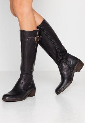 MEDOC - Cowboy/Biker boots - iris/ebony