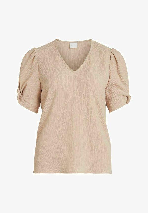 Vila Bluzka - pink, mottled beige/rÓżowy THXF