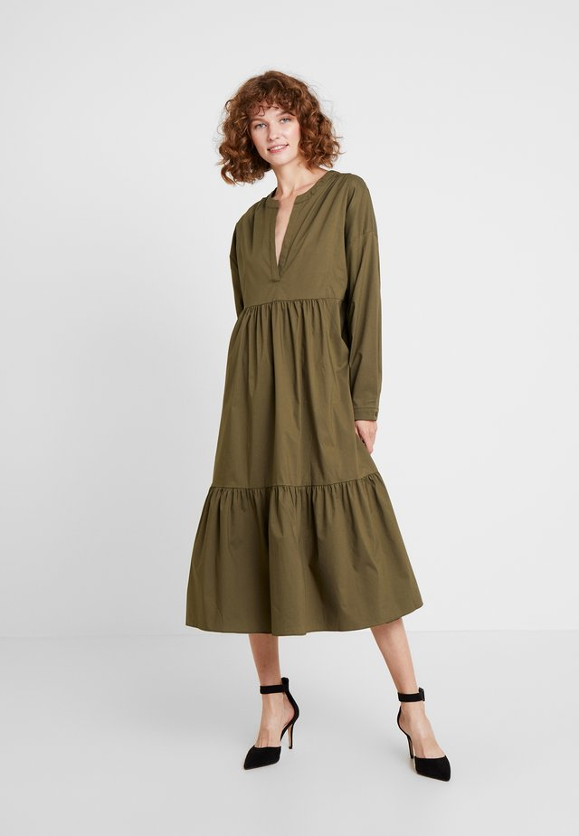 KRISTINE POPLIN DRESS - Vestido informal - army green