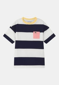 Lacoste - Camiseta estampada - flour/navy blue - 0