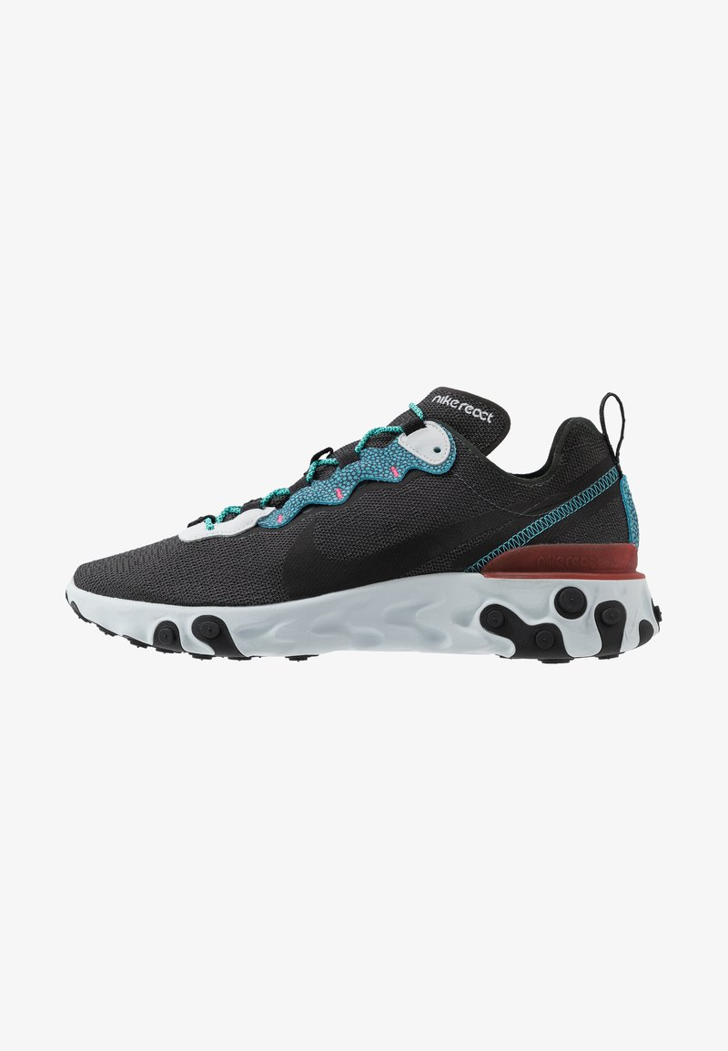 Nike Sportswear - REACT ELEMENT 55 SE - Zapatillas - anthracite/blue fury/pure platinum/university red/solar red/hyper jade