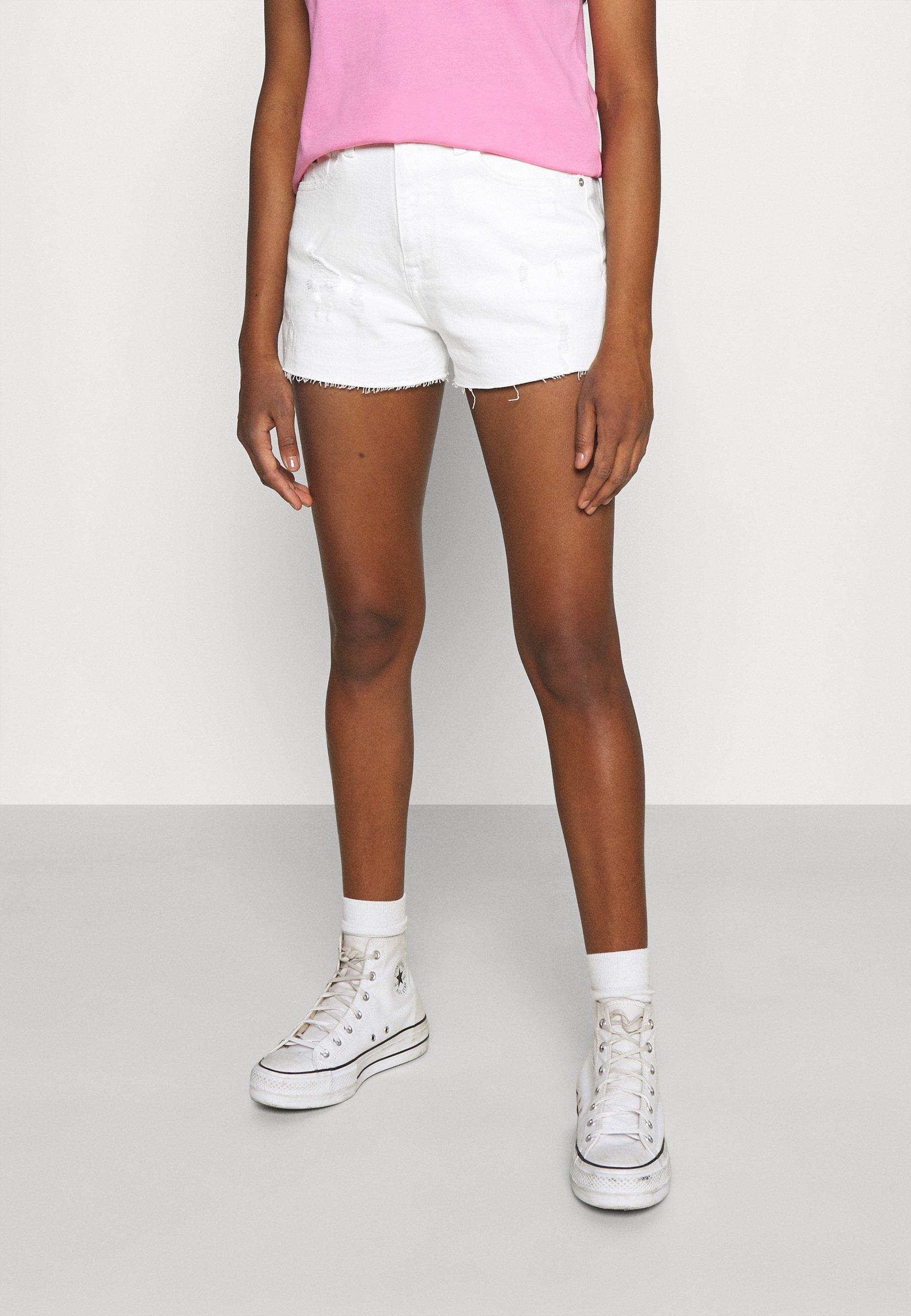 Women HOTPANT - Denim shorts - optic white