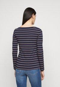 Anna Field Tall - Long sleeved top - dark blue/camel - 2
