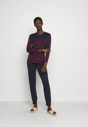 LANGER SCHLAFANZUG SET - Pyjamas - blau/rot