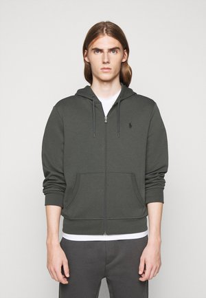 DOUBLE TECH - Sweatjacke - charcoal grey