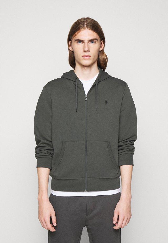 DOUBLE TECH - veste en sweat zippée - charcoal grey