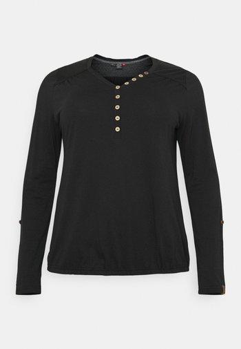 PINCH SOLID PLUS - Long sleeved top - black