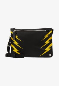 Neil Barrett - TIGER BOLT SACOCHE - Umhängetasche - black/yellow - 6