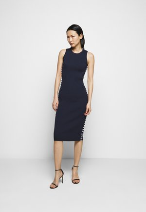 ROPE LACEUP MIDI DRESS - Sukienka etui - midnightblue