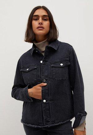 BOXY - Button-down blouse - denim grå