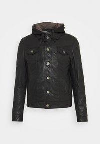 Serge Pariente - JEAN DELETION LIST - Leather jacket - black - 0