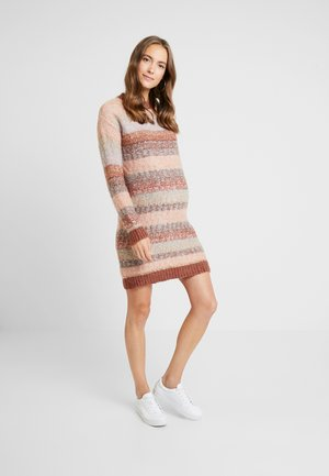 Jumper dress - brown/pink