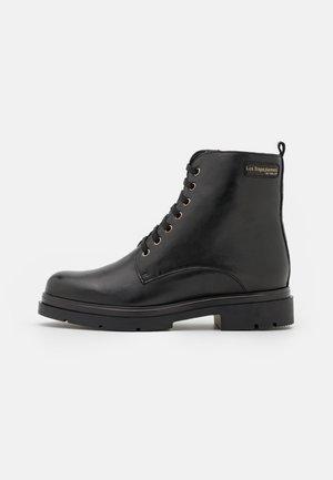 SORAYA - Šněrovací kotníkové boty - noir