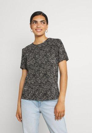 ONLTAMMIE PLISSE - T-shirt print - black/white