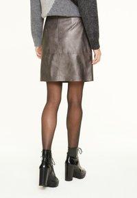 comma casual identity - MIT METALLIC-EFFEKT - A-line skirt - dark grey - 1