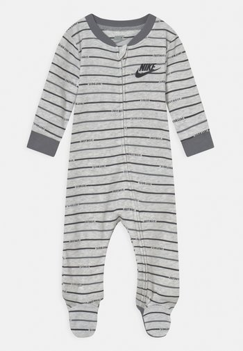STRIPE FOOTED COVERALL UNISEX - Sleep suit - birch heather