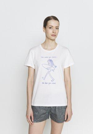 SKINNY DIP TRIP CREW - T-shirts med print - white