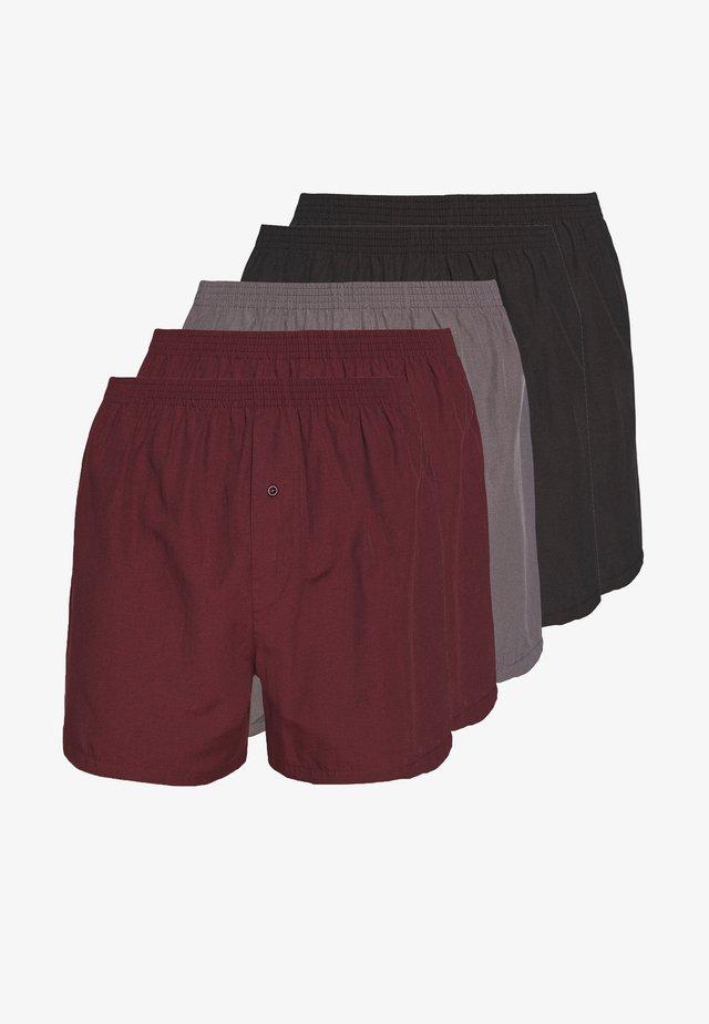 5 PACK - Boxershort - black/grey/red