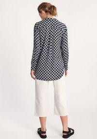 comma casual identity - Button-down blouse - dark blue grid - 2