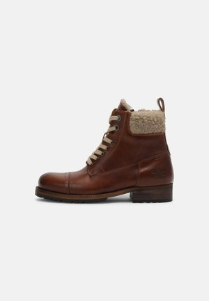 MELTING WARM - Lace-up ankle boots - tan