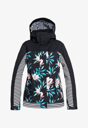 JETTY BLOCK  - Snowboard jacket - true black tropical day