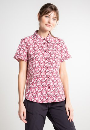 Button-down blouse - light red