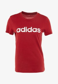 adidas Performance - ESSENTIALS SPORTS SLIM SHORT SLEEVE TEE - Printtipaita - active maroon/white - 3