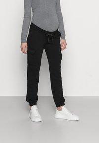 MAMALICIOUS - MLMARIE JERSEY PANTS - Pantalones deportivos - black - 0